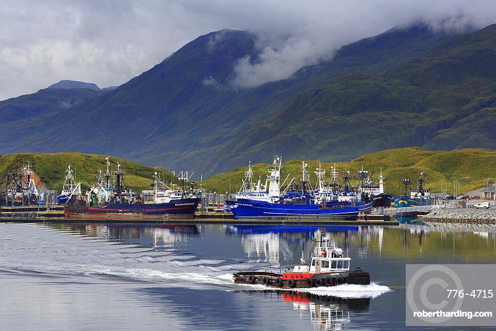 Carl E. Moses Boat Harbor, Dutch Harbor, Amaknak Island, Aleutian Islands, Alaska, United States of America, North America