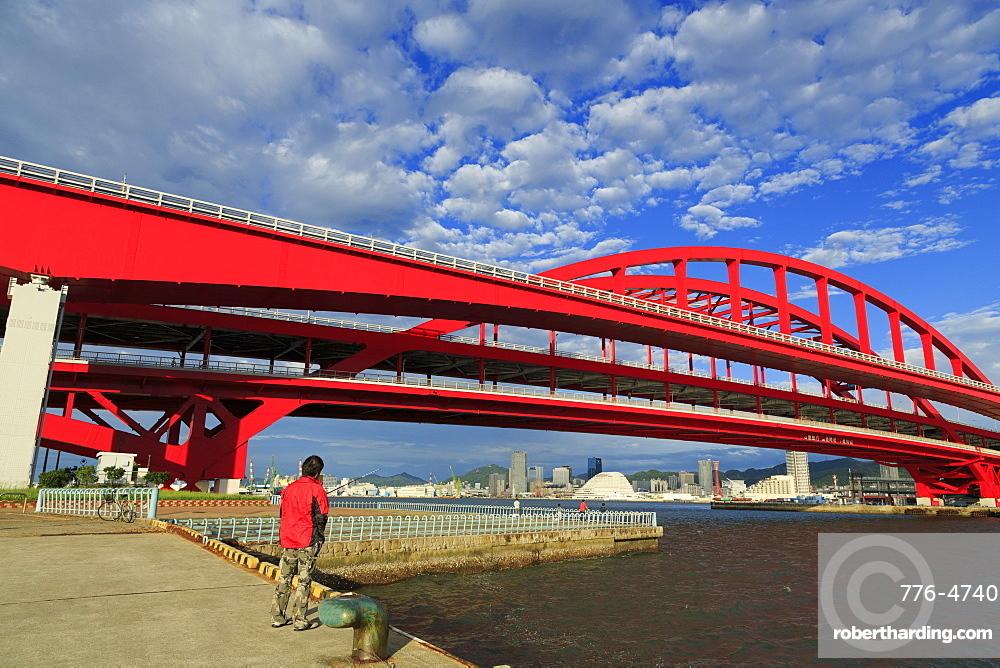 Ohashi Bridge, Kobe City, Honshu Island, Japan, Asia