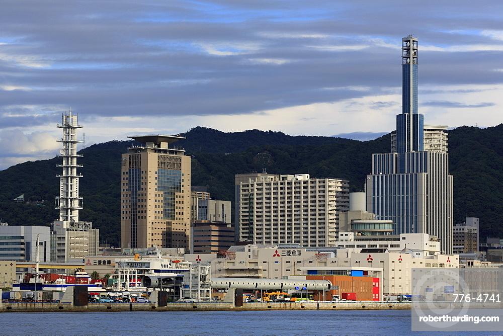 Skyline, Kobe City, Honshu Island, Japan, Asia