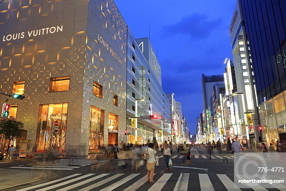 Ginza Shopping District, Tokyo, Japan, Asia