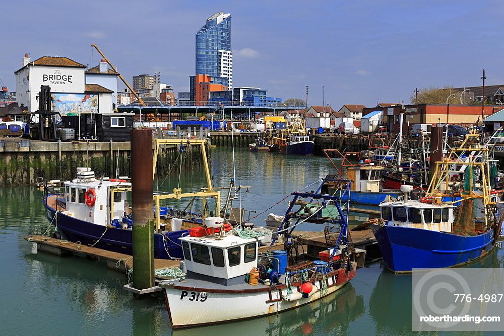 Fishing boats, Portsmouth, Hampshire, England, United Kingdom, Europe