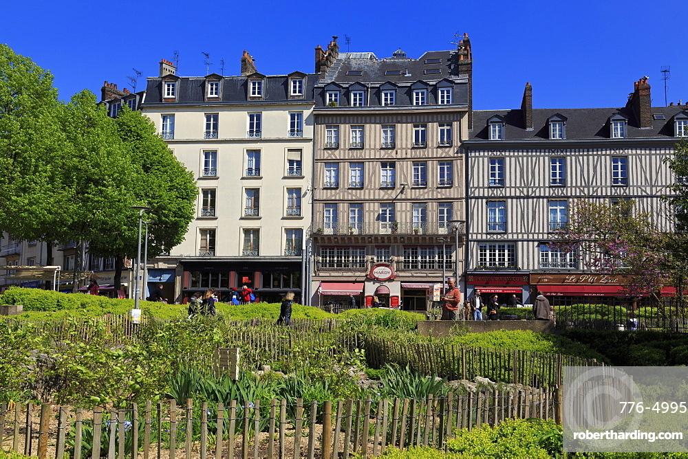 Place du Vieux Marche, Old Town, Rouen, Normandy, France, Europe