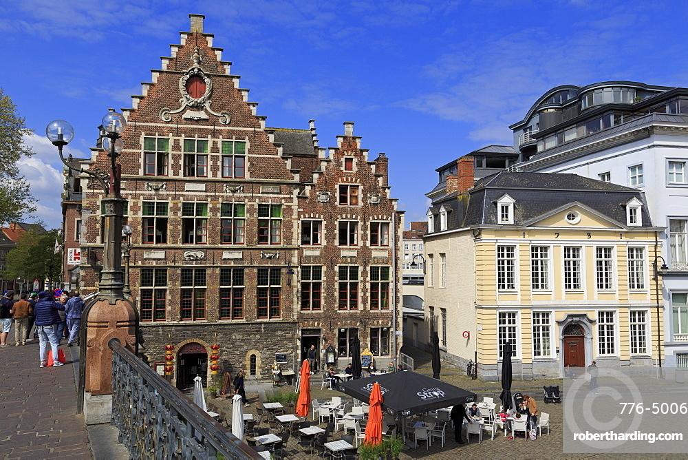 Hostel, Korenlei Waterfront, Ghent, East Flanders, Belgium, Europe