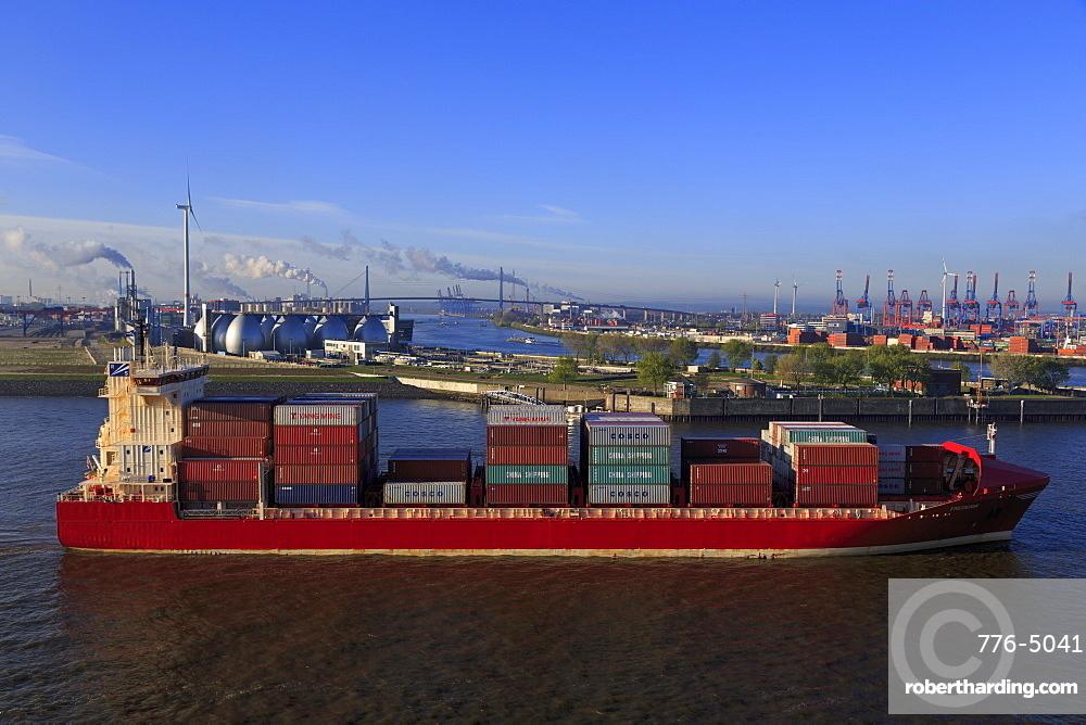 Container ship, Hamburg, Germany, Europe