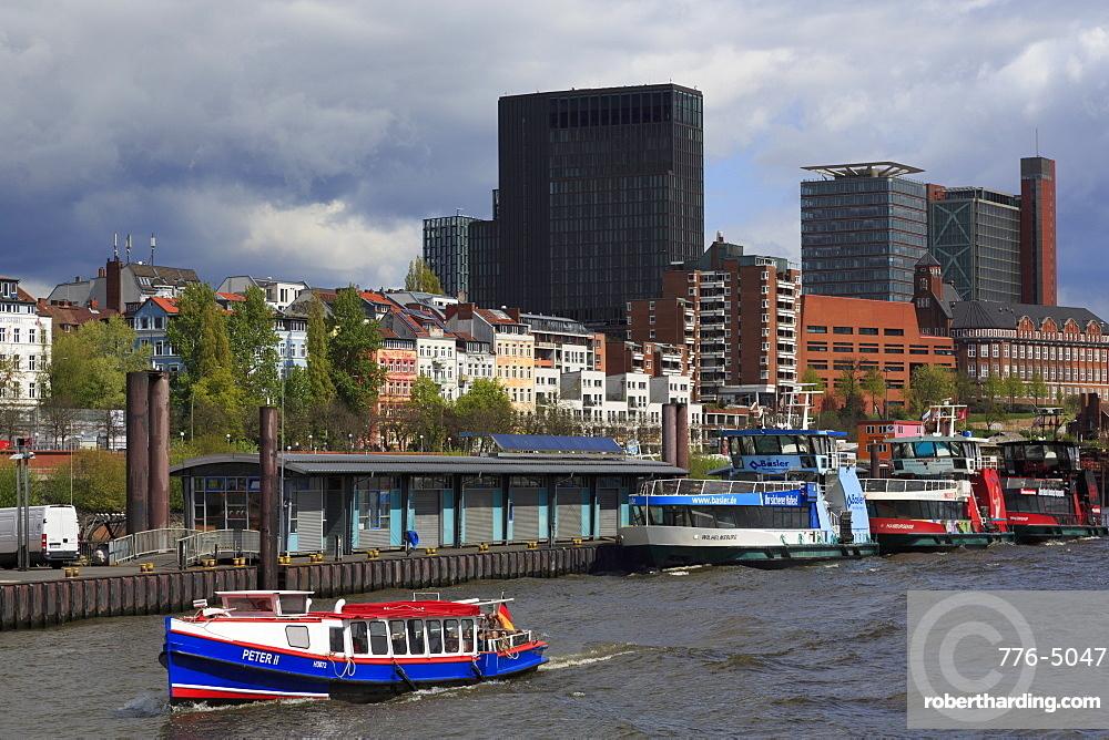 Ferry, St. Pauli District, Hamburg, Germany, Europe