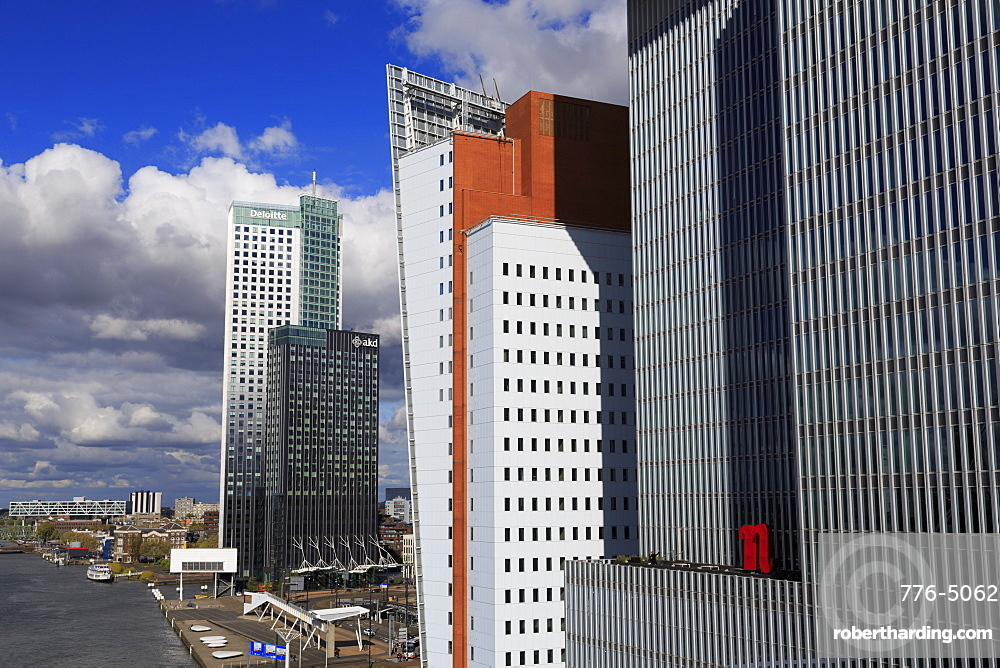 Skyscrapers in Wilhelminaplein, Rotterdam, South Holland, Netherlands, Europe
