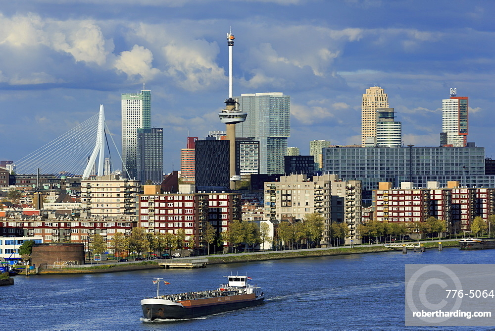 Skyline, Rotterdam, South Holland, Netherlands, Europe
