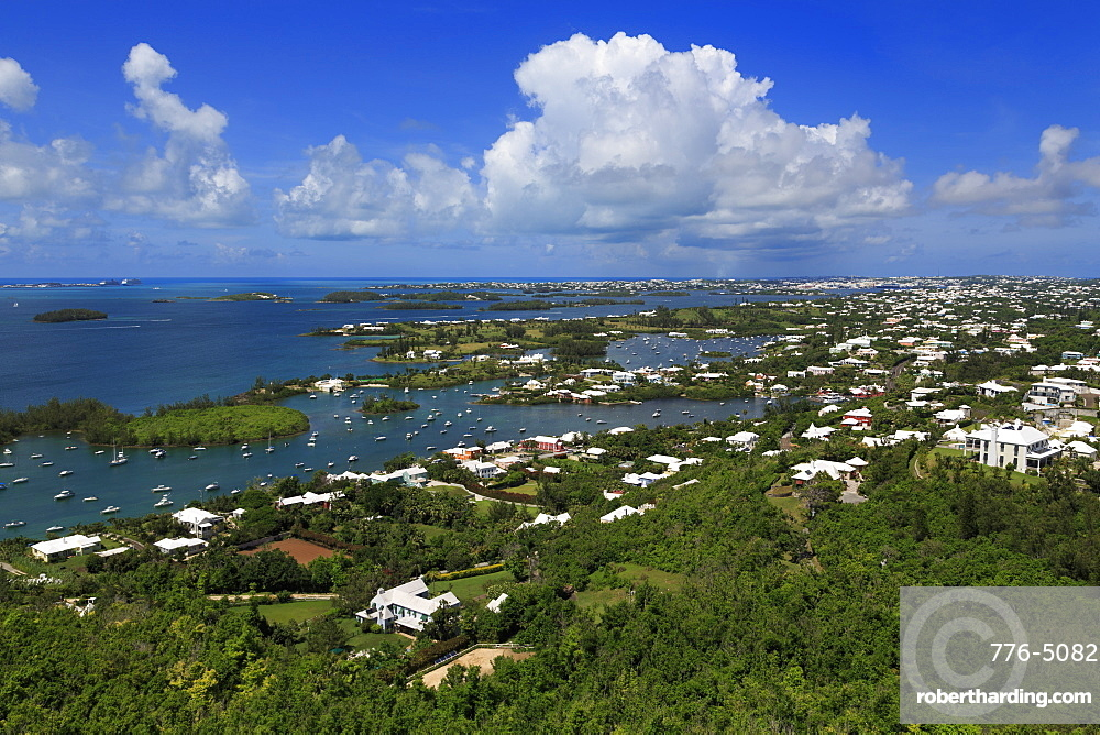 View from Gibbs Hill Lighthouse, Southampton Parish, Bermuda, Central America