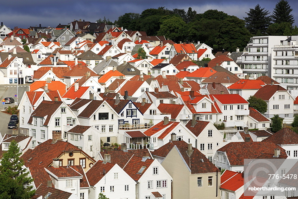 Gamle (Old Town) District, Stavanger City, Rogaland County, Norway, Scandinavia, Europe