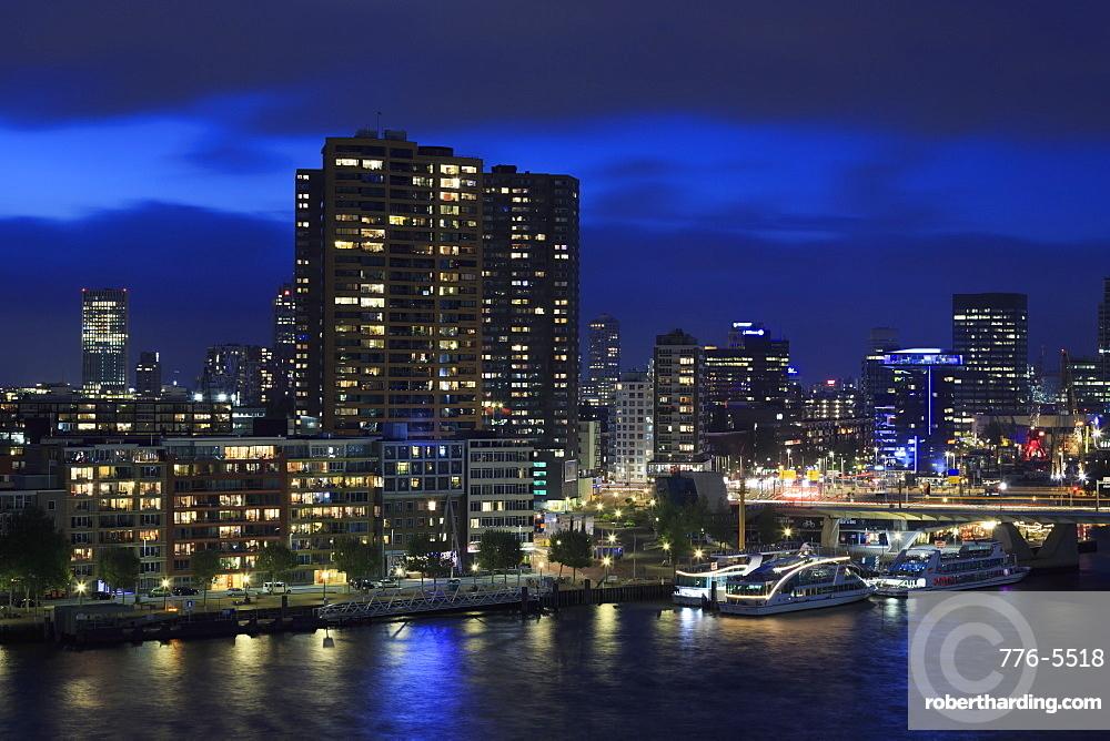 Skyline, Rotterdam, Netherlands, Europe
