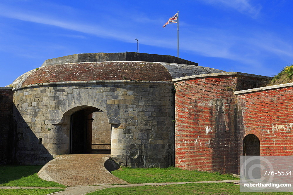 Gun Tower in Hurst Castle, Keyhaven, Hampshire, England, United Kingdom, Europe