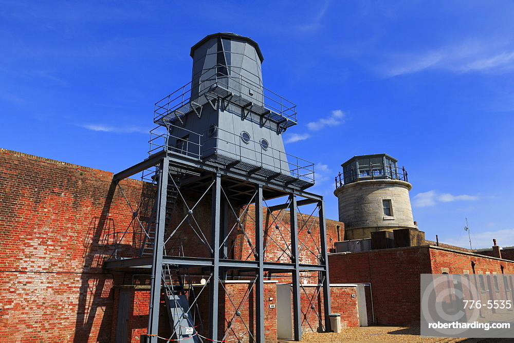 Low Lighthouses in Hurst Castle, Keyhaven, Hampshire, England, United Kingdom, Europe