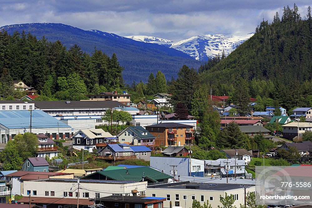 Downtown Wrangel, Alaska, United States of America, North America
