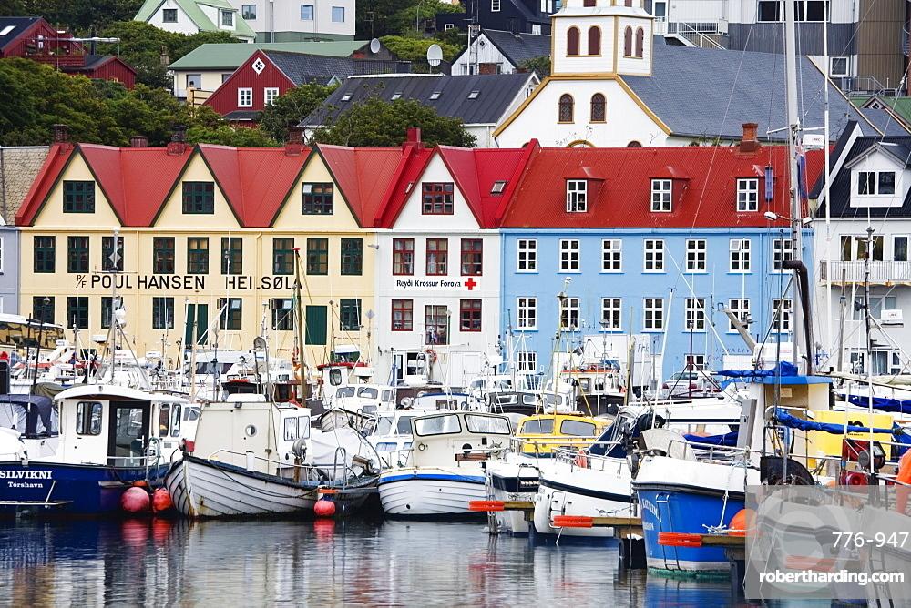 Fishing Fleet, Port of Torshavn, Faroe Islands (Faeroes), Kingdom of Denmark, Europe