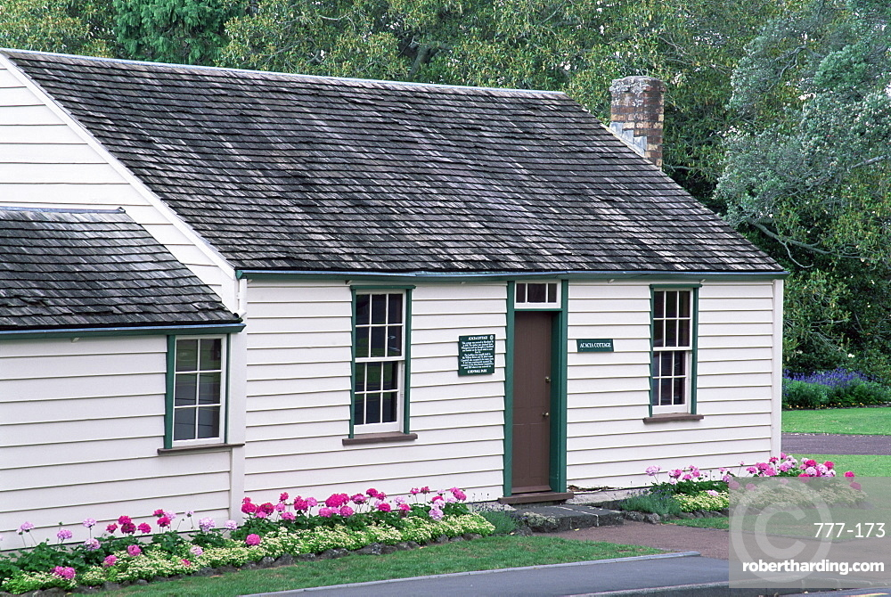 Acacia Cottage, the city's oldest building, Cornwall Park, Auckland, North Island, New Zealand, Pacific