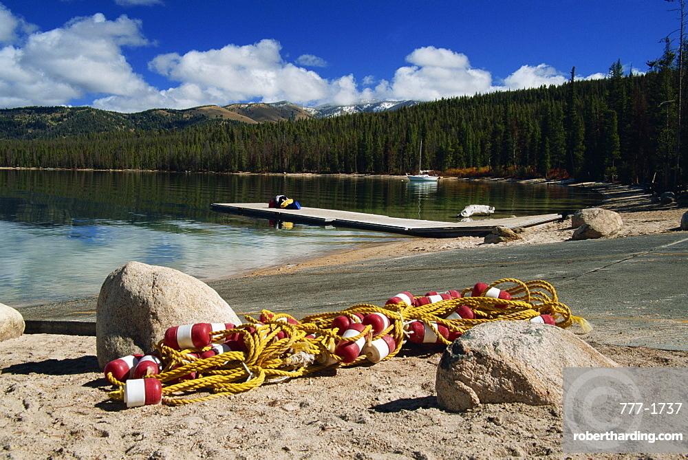 Redfish Lake, Sawtooth Mountain Range, southern Idaho, United States of America, North America