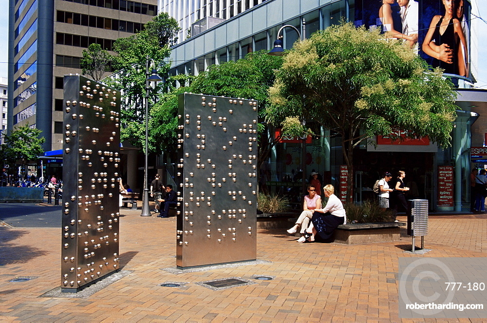 Invisible City sculpture by Anton Parsons, Lambton Quay, Wellington, North Island, New Zealand, Pacific
