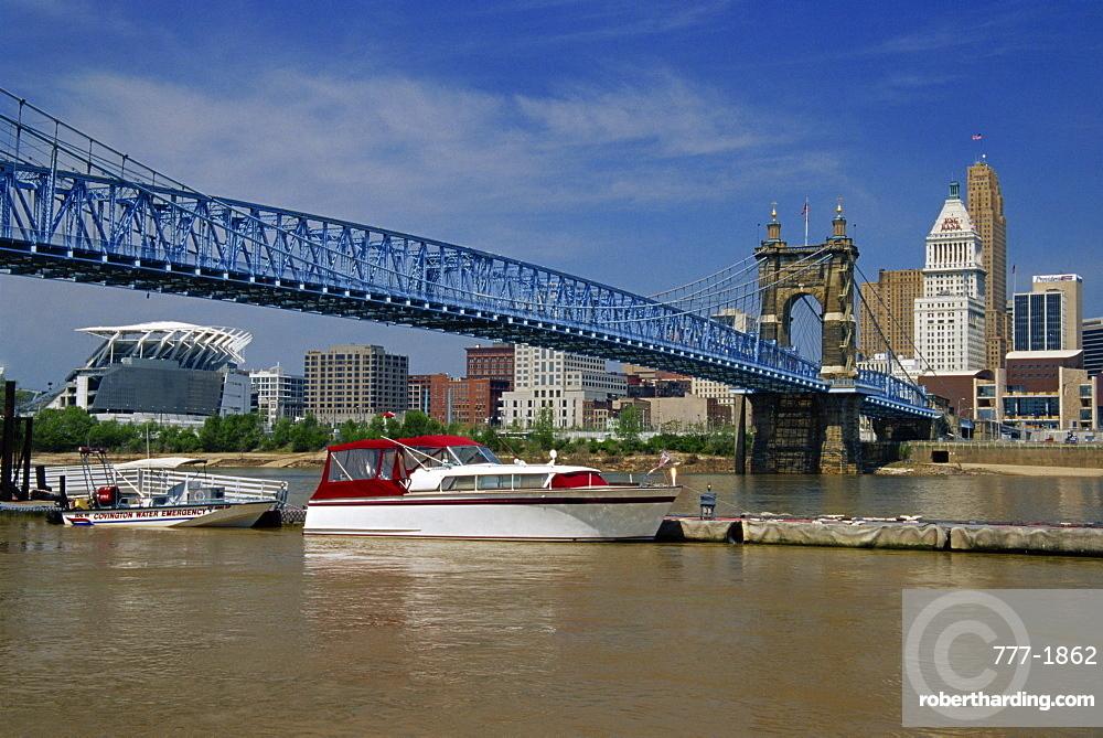 Roebling Suspension Bridge, Cincinnati, Ohio, United States of America, North America