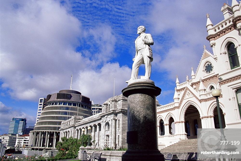 John Ballance statue, Parliament grounds, Wellington, North Island, New Zealand, Pacific