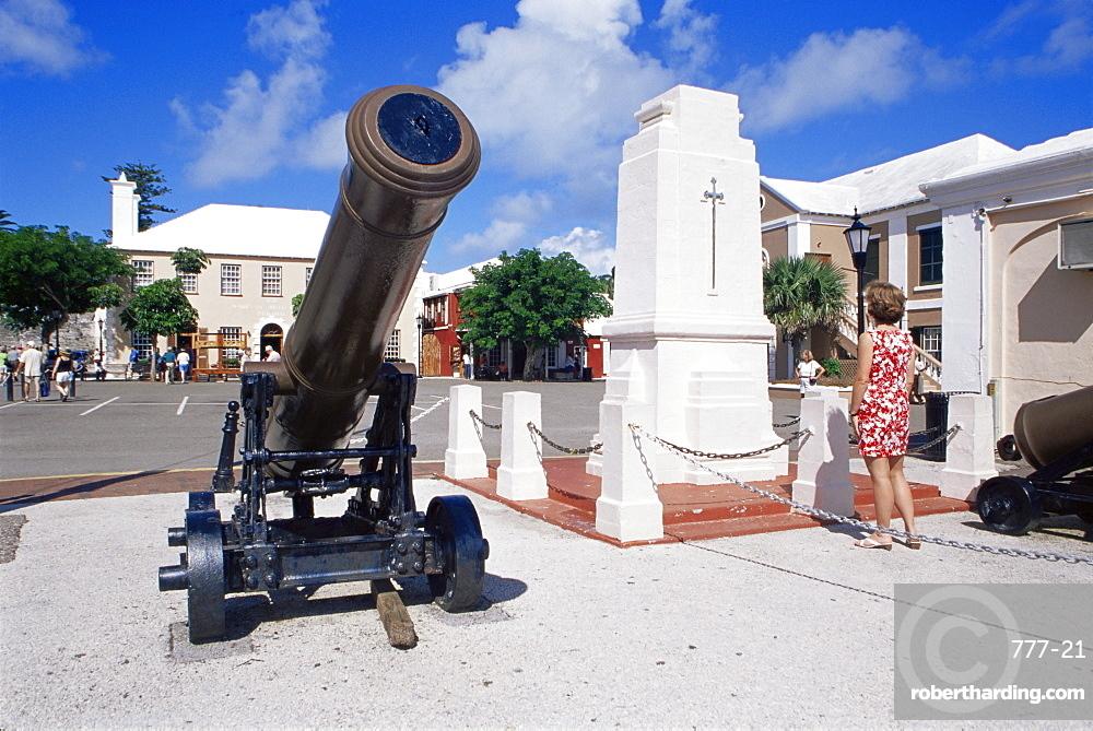 Royal Garrison Artillery monument, Kings Square, St. George, Bermuda, Central America