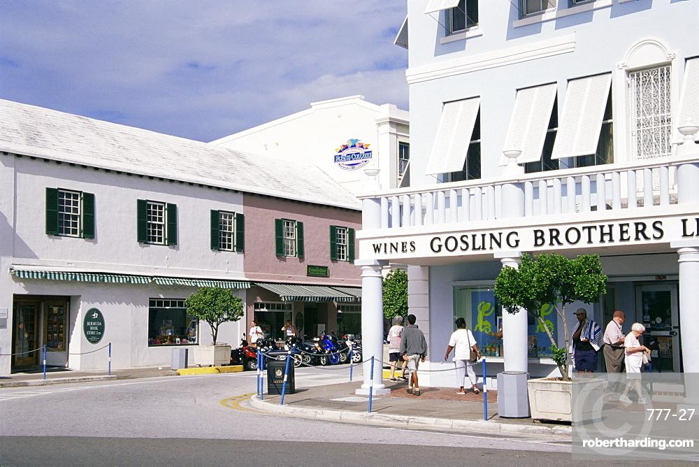 Corner of Front and Queen Streets, Hamilton, Bermuda, Central America