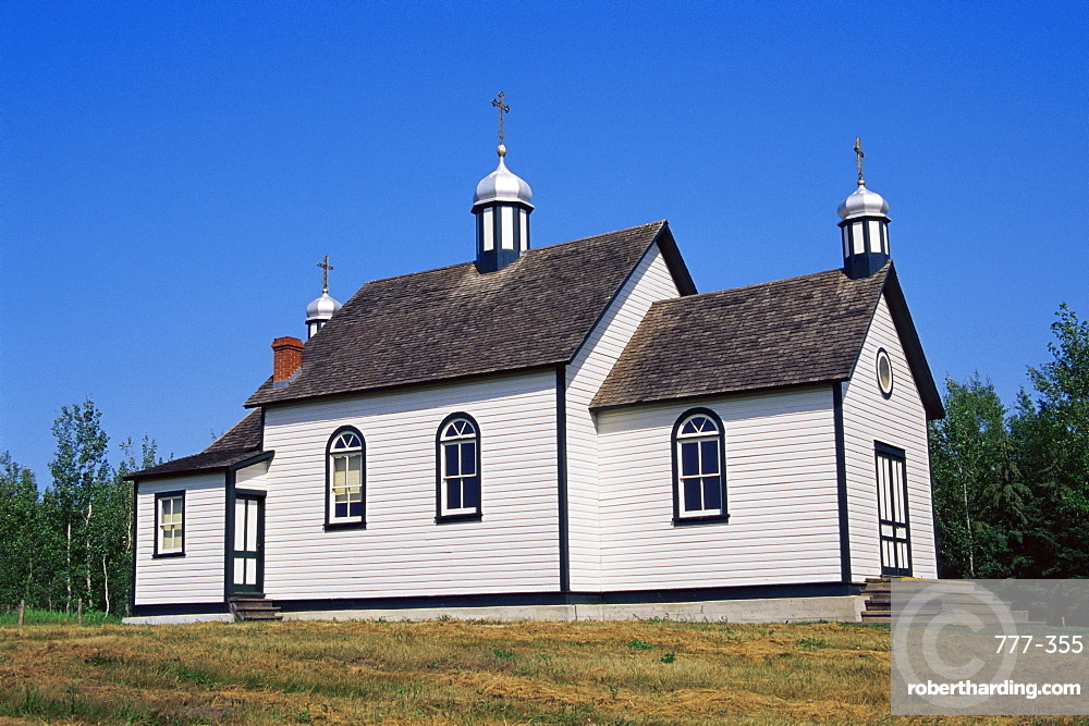 St. Nicholas church, Ukrainian Heritage Village, Greater Edmonton area, Alberta, Canada, North America