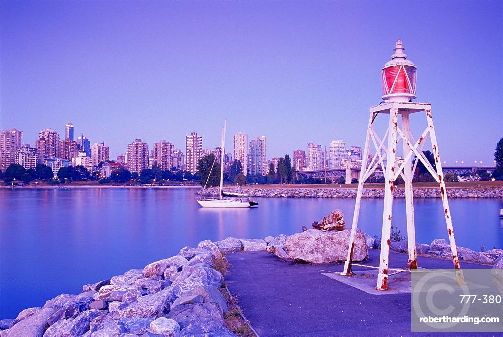 Elsje Point lighthouse, Vanier Park, Vancouver, British Columbia, Canada, North America