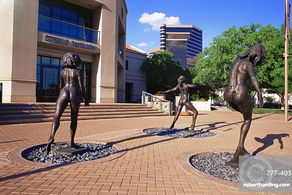 Sculptures outside the Herberger Theater, Phoenix, Arizona, United States of America, North America