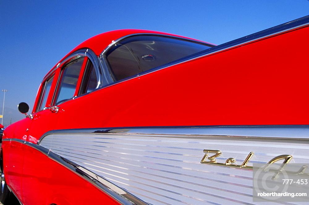 1957 Chevy Belair, 4 door, Los Angeles County Fairgrounds, Pomona, California, United States of America, North America