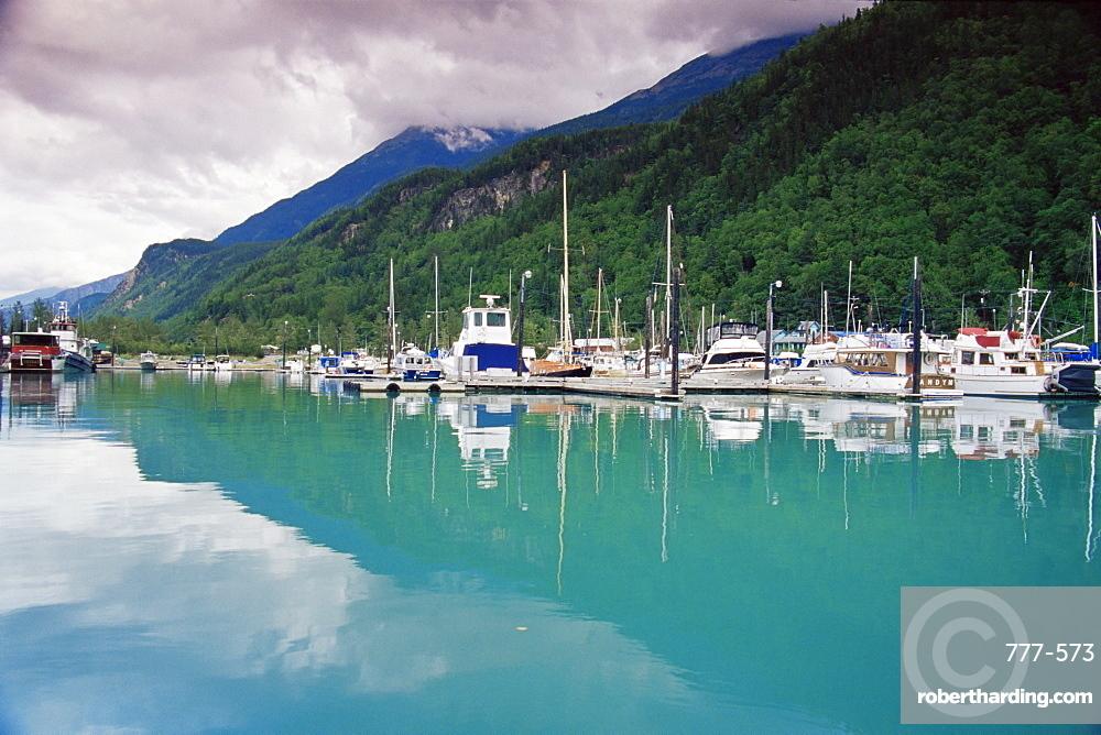 Small boat harbor, Skagway, Alaska, United States of America, North America