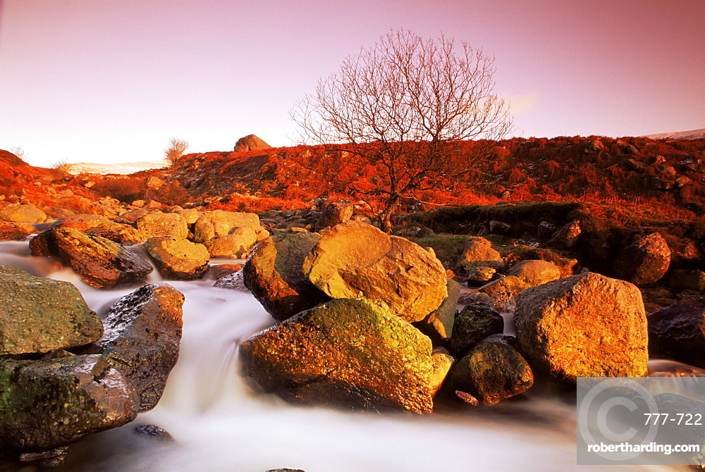 Nire Valley River, Comeragh Mountains, County Waterford, Munster, Republic of Ireland, Europe