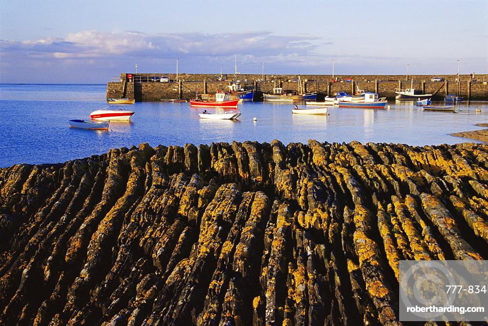 Ballywalter Pier, Ards Peninsula, County Down, Ulster, Northern Ireland, United Kingdom, Europe