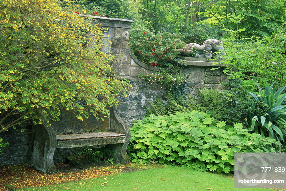 Italian Garden, Mount Stewart House, County Down, Ulster, Northern Ireland, United Kingdom, Europe