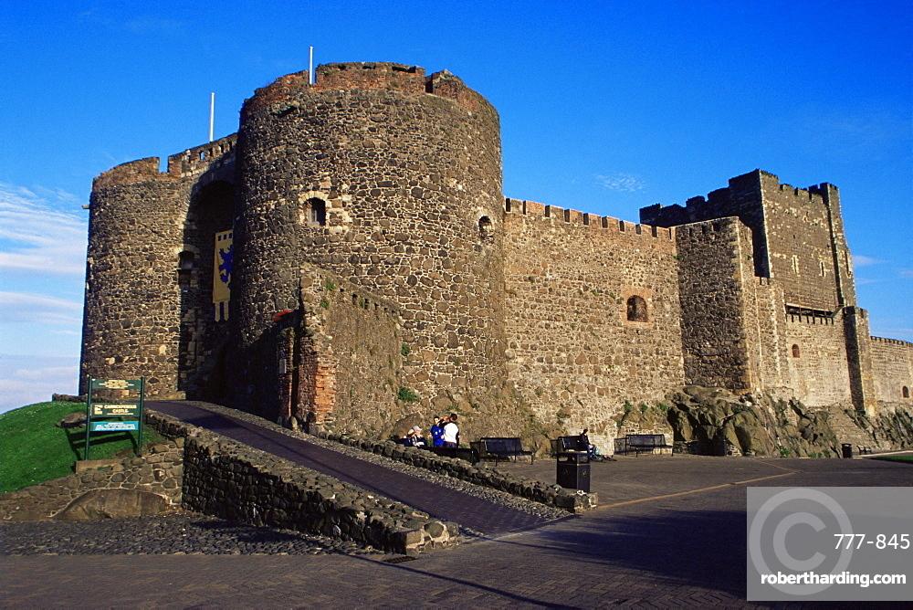 Carrickfergus Castle, County Antrim, Ulster, Northern Ireland, United Kingdom, Europe