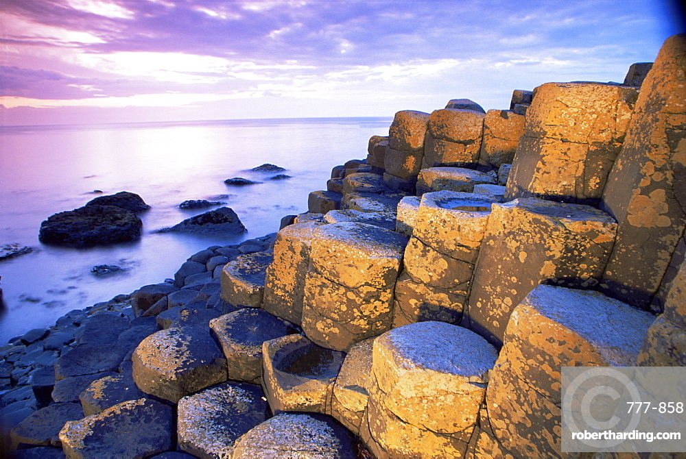 The Giant's Causeway, UNESCO World Heritage Site, County Antrim, Ulster, Northern Ireland, United Kingdom, Europe