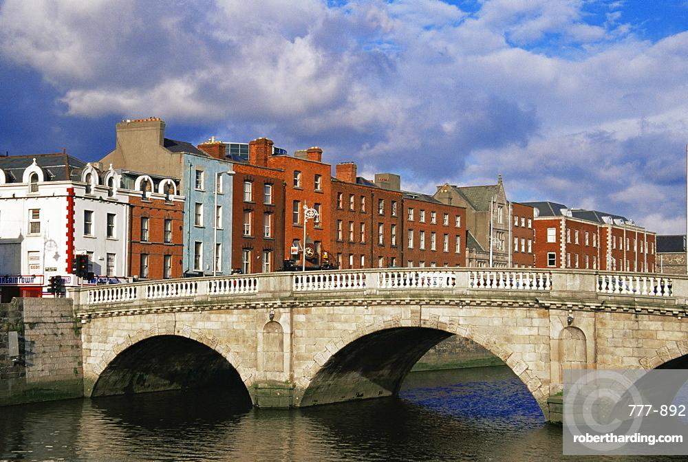 Mellows Bridge over River Liffey, Dublin City, Republic of Ireland, Europe