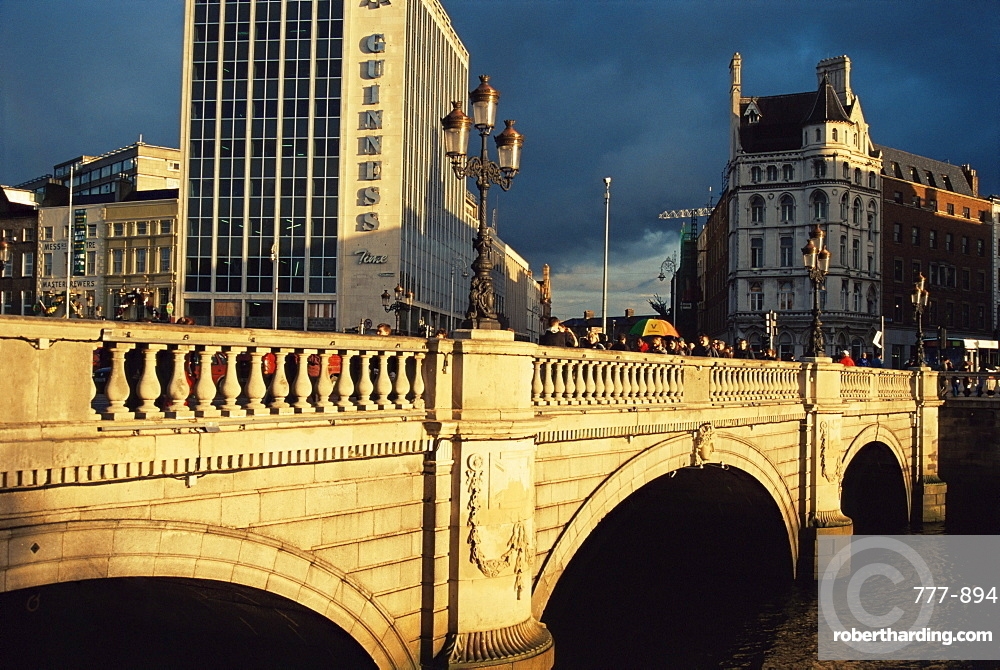 O'Connell Street Bridge, Dublin City, Republic of Ireland, Europe