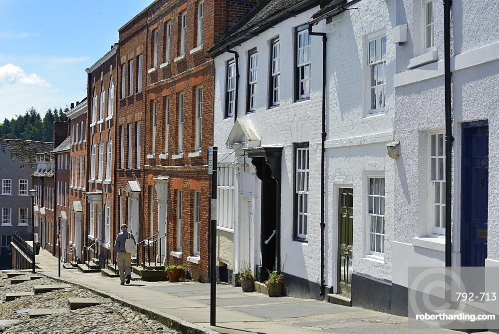 Georgian buildings on Broad Street, Ludlow, Shropshire, England, United Kingdom. Europe
