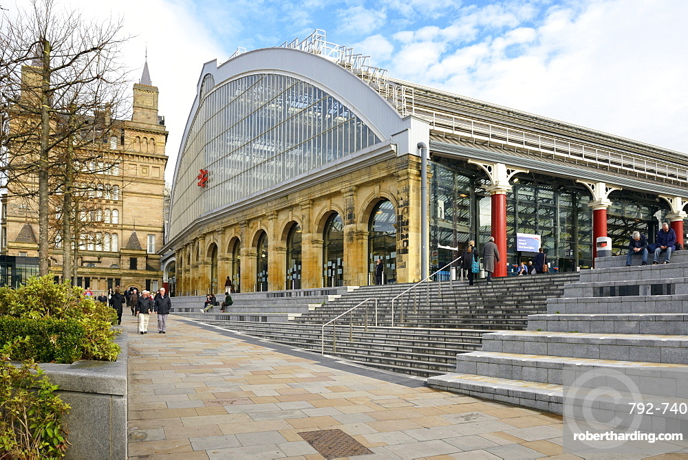 Lime Street Railway Station, Liverpool, Merseyside, England, United Kingdom, Europe