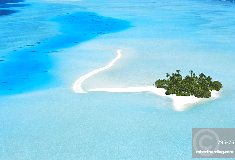Aerial view of North Male atoll, Maldives, Indian Ocean, Asia