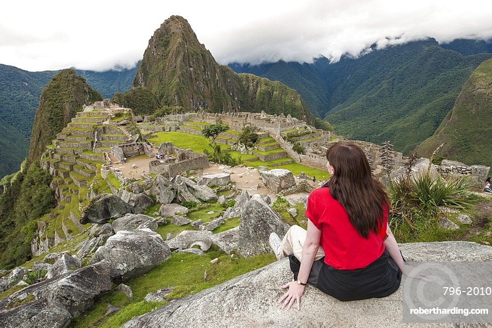 Machu Picchu, UNESCO World Heritage Site, near Aguas Calientes, Peru, South America