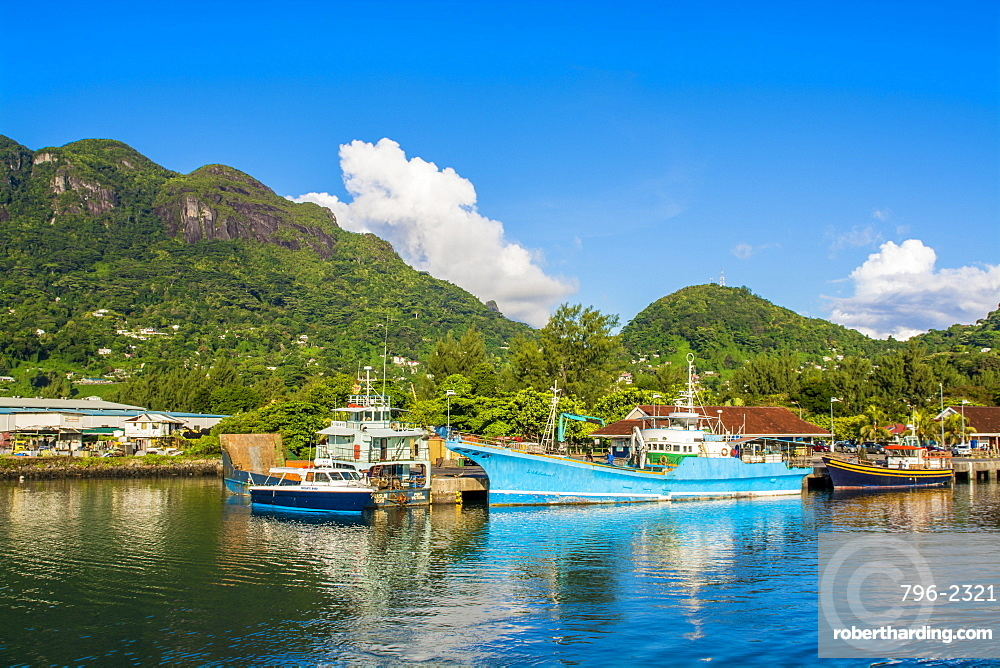 Victoria Harbour, Mahe, Republic of Seychelles, Indian Ocean, Africa