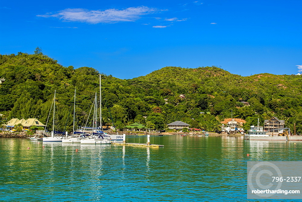 La Passe town, La Digue, Republic of Seychelles, Indian Ocean, Africa