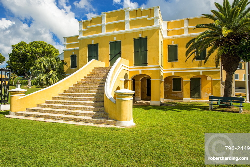 Old Danish Customs House, Christiansted National Historic Site, Christiansted, St. Croix, US Virgin Islands, Caribbean