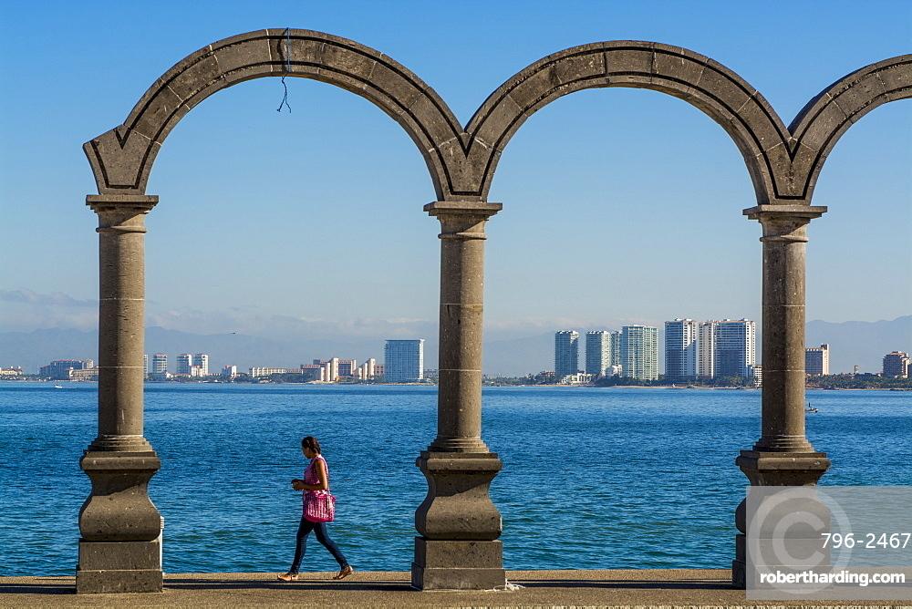 The Malecon arches, Puerto Vallarta, Jalisco, Mexico, North America
