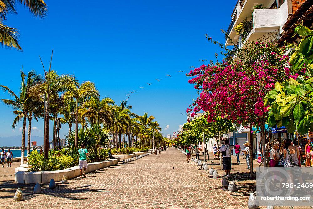 The Malecon, Puerto Vallarta, Jalisco, Mexico.