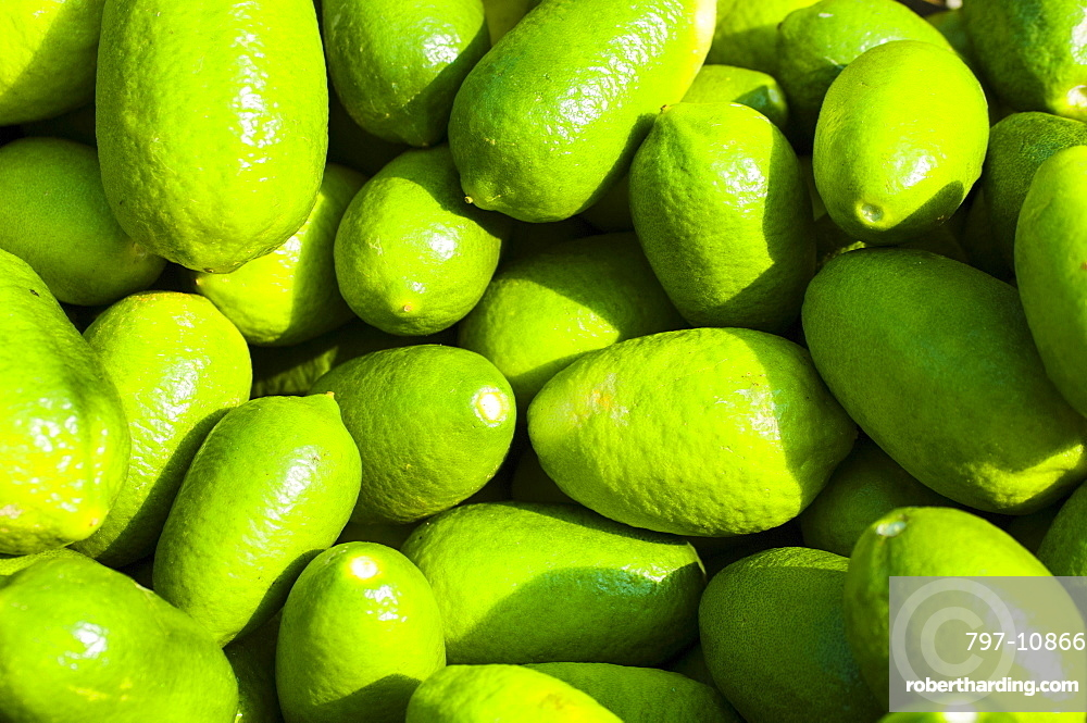Food, Fruit, Lime, Fresh bright green citrus limes.