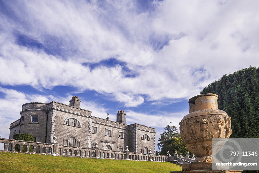 Ireland, County Westmeath, Mullingar, Belvedere House and Gardens General view of the facade of the house which was built in 1740.