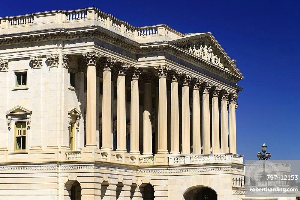 USA, Washington DC, Capitol Building, Angular iew of the House of Representatives.