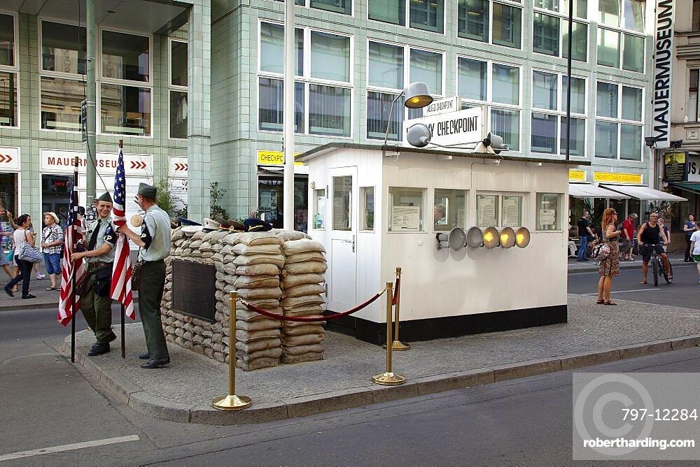 Germany, Berlin, Mitte, Checkpoint Charlie on Friedrichstrasse.